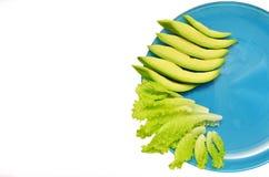 Plaat met groenten Stock Afbeeldingen