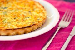 Plaat met groentenpastei, het gezonde eten Stock Fotografie