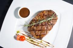 Plaat met lapje vlees Stock Fotografie