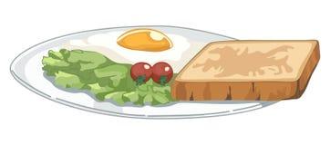 Plaat met Ontbijt royalty-vrije illustratie