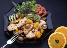 Plaat met voedsel Stock Afbeeldingen