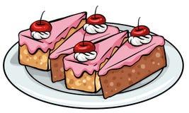Plaat van cakes vector illustratie