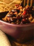 Plaat van chili con carne. Mexicaans. Stock Afbeelding