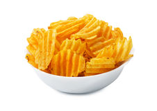 Plaat van chips stock foto's