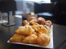 Plaat van Croissants Royalty-vrije Stock Foto