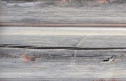 Plaat van de oude horizontale gebarsten raad Stock Foto's