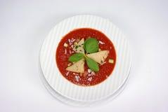 Plaat van fijne het dineren maaltijd Stock Afbeelding