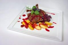 Plaat van fijne het dineren maaltijd Stock Fotografie