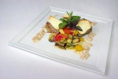 Plaat van fijne het dineren maaltijd Royalty-vrije Stock Afbeeldingen