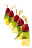 Plaat van fruitdessert Royalty-vrije Stock Afbeeldingen