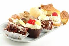 Plaat van gebakjes stock foto's