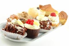 Plaat van gebakjes Stock Afbeeldingen