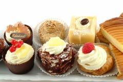 Plaat van gebakjes Stock Afbeelding