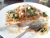 Plaat van gedeeltelijk gegeten voedsel Stock Fotografie