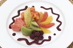 Plaat van gesneden van fruit Royalty-vrije Stock Afbeeldingen