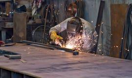 Plaat van het plasma de scherpe staal royalty-vrije stock foto