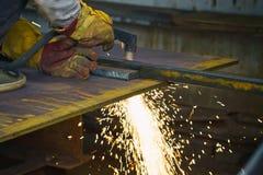 Plaat van het plasma de scherpe staal royalty-vrije stock foto's