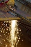Plaat van het plasma de scherpe staal stock foto's