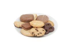 Plaat van koekjes Royalty-vrije Stock Afbeeldingen