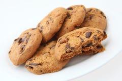 Plaat van koekjes Stock Foto