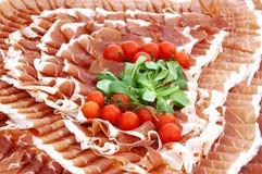 Plaat van koud vlees stock afbeeldingen