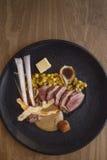 Plaat van lam met groenten Royalty-vrije Stock Afbeeldingen