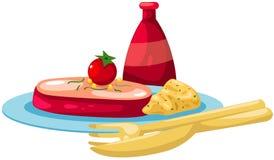 Plaat van lapje vlees vector illustratie