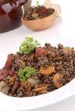 Plaat van linzen en groenten stock afbeeldingen