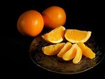 Plaat van oranje secties royalty-vrije stock fotografie