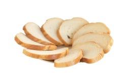 Plaat van plakken van een wit brood Stock Foto