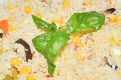 Plaat van rijstsalade Stock Foto