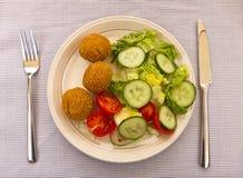 Plaat van Salade Royalty-vrije Stock Foto's