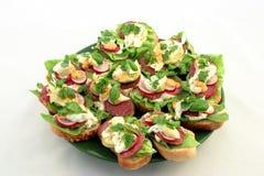Plaat van sandwiches Royalty-vrije Stock Foto
