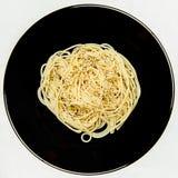 Plaat van spaghetti Royalty-vrije Stock Afbeeldingen