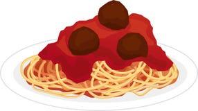 Plaat van spaghetti Royalty-vrije Stock Fotografie