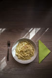 Plaat van spaghetti Royalty-vrije Stock Foto