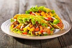 Plaat van taco stock foto's