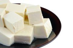 Plaat van tofu Royalty-vrije Stock Foto's