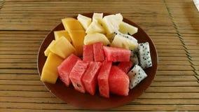Plaat van tropisch fruit in Vietnam royalty-vrije stock afbeelding