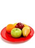 Plaat van vers fruit Stock Afbeelding