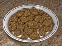 Plaat van verse koekjes 20 Stock Afbeelding