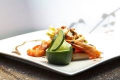 Plaat van voedsel Stock Foto's