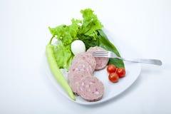 Plaat van voedsel royalty-vrije stock afbeelding