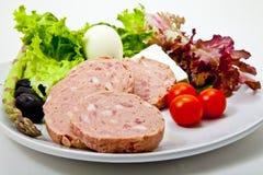 Plaat van voedsel stock afbeelding