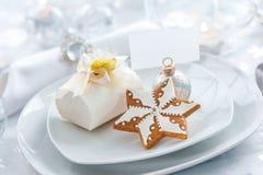 Plaat voor de avond van Kerstmis Stock Foto's