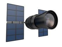 Plaats 3D telescoop uit elkaar. Onderzoek van verre melkwegen. Royalty-vrije Stock Afbeeldingen