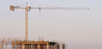 Plaats in aanbouw royalty-vrije stock afbeeldingen