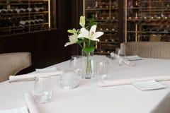 Plaats die in een Restaurant plaatst Royalty-vrije Stock Fotografie