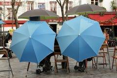 Plaats du tertre in Parijs Stock Foto's