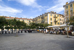 Plaats Garibaldi, Nice, Frankrijk Stock Foto
